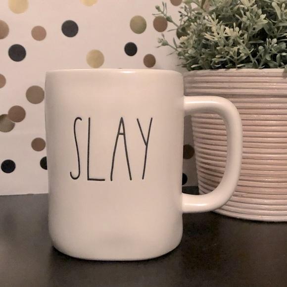 💥2/$30💥 Rae Dunn SLAY white matte ceramic mug